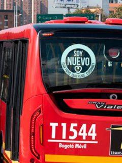Imagen de un bus de Transmilenio, que ilustra un accidente en Bogotá.