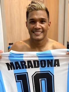 Según 'Teo', le dijo al DT de Boca que estaba atento si lo necesita. Imagen de referencia del delantero colombiano.