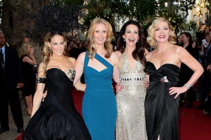 Foto de Sarah Jessica Parker, Cynthia Nixon, Kristin Davis y Kim Cattrall, elenco de 'Sex and the city', a propósito del regreso de la serie