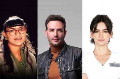 Ana María Orozco, Sebastián Martínez y Diana Hoyos, actuando en 'Betty, la fea', 'Pa' quererte' y 'Enfermeras', ilustra nota sobre programación de RCN con nuevos capítulos de 'Pa' quererte' y 'Enfermeras'.