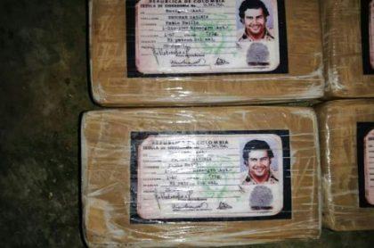 Cae cargamento en Honduras con la imagen de la cédula de Pablo Escobar