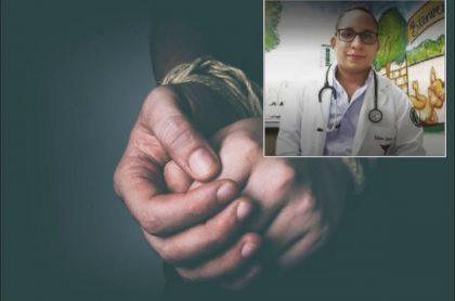 Imagen del médico Fabián Guerra, hallado a salvo junto con dos acompañantes luego de que se reportara un supuesto secuestro en La Guajira