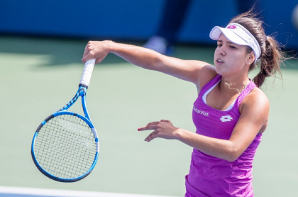 María Camila Osorio, tenista colombiana que quedó a punto de clasificar al Australian Open.