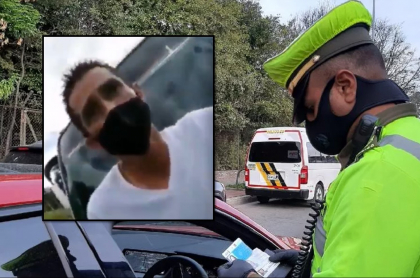 Captura de pantalla de video de policía de Tránsito que se niega a recibir soborno.