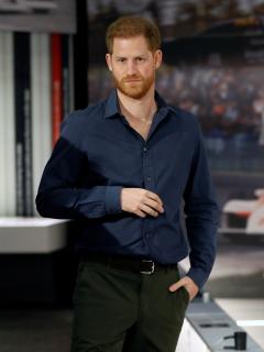 Foto de príncipe Harry, quien cambio de 'look'