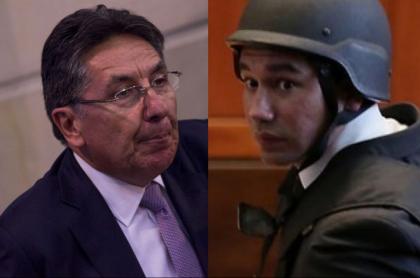 El exfiscal general Néstor Humberto Martínez y el exfiscal anticorrupción Luis Gustavo Moreno.