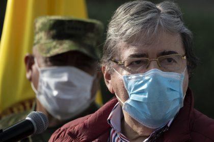 Carlos Holmes Trujillo, ministro de Defensa trasladado a Bogotá por COVID-19