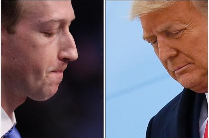 Mark Zuckerberg y Donald Trump
