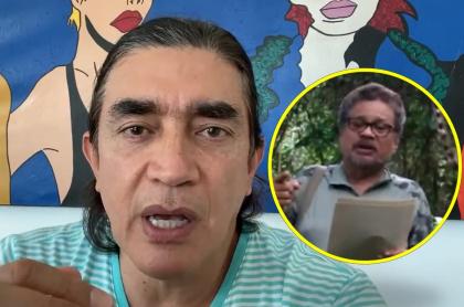 Gustavo Bolívar, que dijo que 'Iván Márquez' revive al uribismo con sus apariciones, y el desertor de la paz