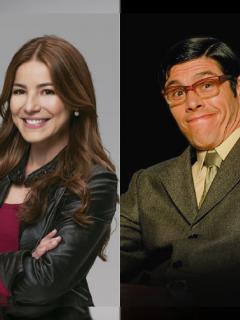 Juliette Pardau y Mario Duarte, actores de 'Pa' quererete' y 'Yo soy Betty, la fea', ilustra nota sobre nuevos horarios de esas y otros producciones de RCN.