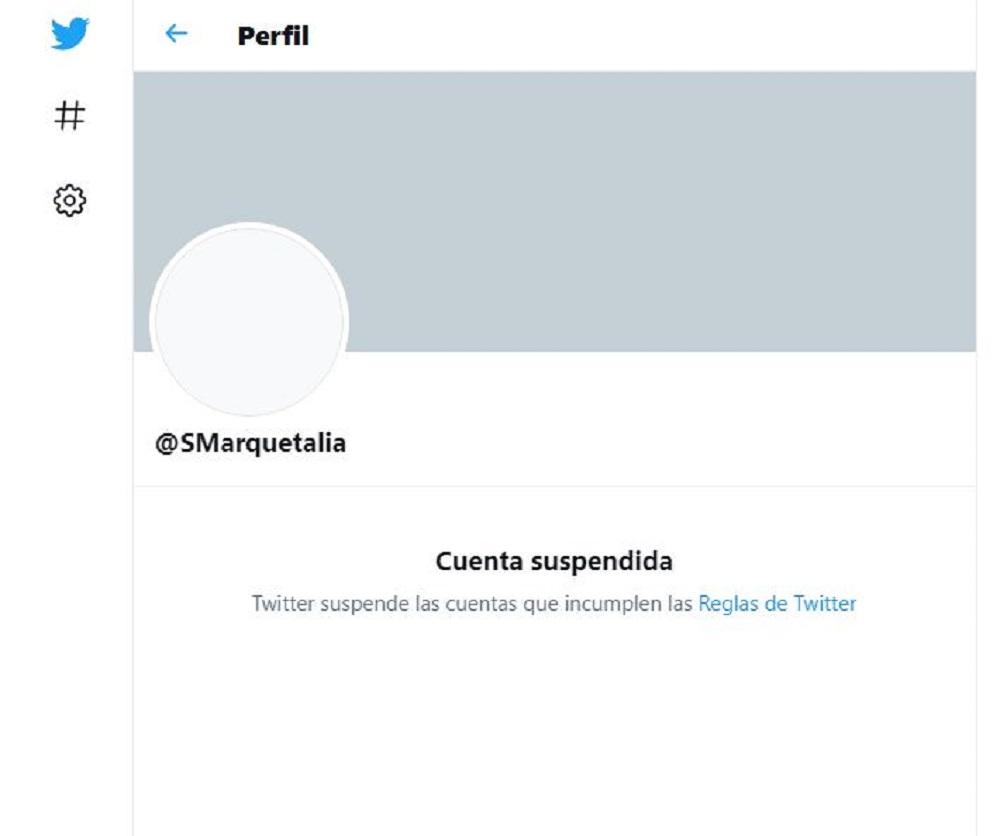 Captura imagen de Twitter