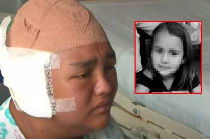 Imágenes de Yeni Lorena Tangarife y su hija asesinada.