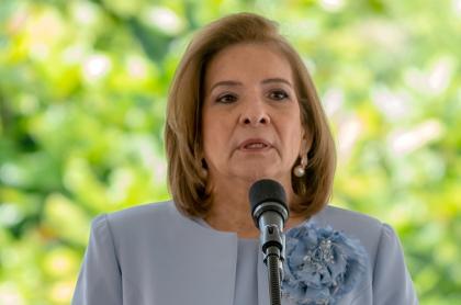 Margarita Cabello, procuradora general, que se negó a hablar de su amistad con el senador Pulgar y los Char