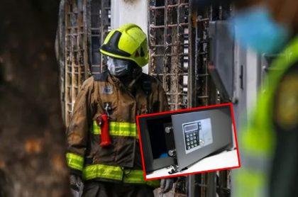 Imágenes que ilustran el robo a una casa incendiada en Cúcuta.