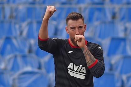 Sergi Enrich, del Eibar, condenado a dos años por difundir video sexual, cuando celebró un gol en la liga española contra el Real Sociedad, el 13 de diciembre de 2020.