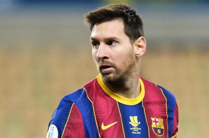 2 fechas de sanción para Messi por su roja con el Barcelona en Supercopa. Imagen de referencia del argentino.