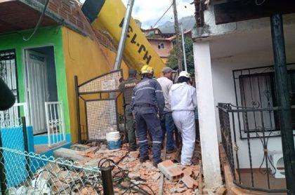 Avioneta se accidentó en Copacabana, Antioquia: Bomberos hacen presencia
