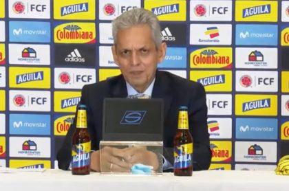 Reinaldo Rueda en su presentación como nuevo técnico de la Selección Colombia, en la que habló de las últimas goleadas que recibió el equipo y los rumores de discusiones entre los jugadores