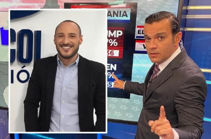 Fotomontaje de Juan Diego Alvira y Andrés Montoya, a propósito de llegada del paisa a Noticias Caracol