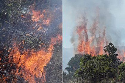 Incendio en Tocancipá este 19 de enero.