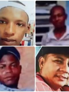 Algunos de los desaparecidos en el departamento de Nariño.