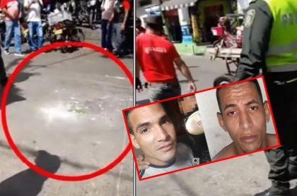 Imágenes que ilustran el atentado en Barranquilla.