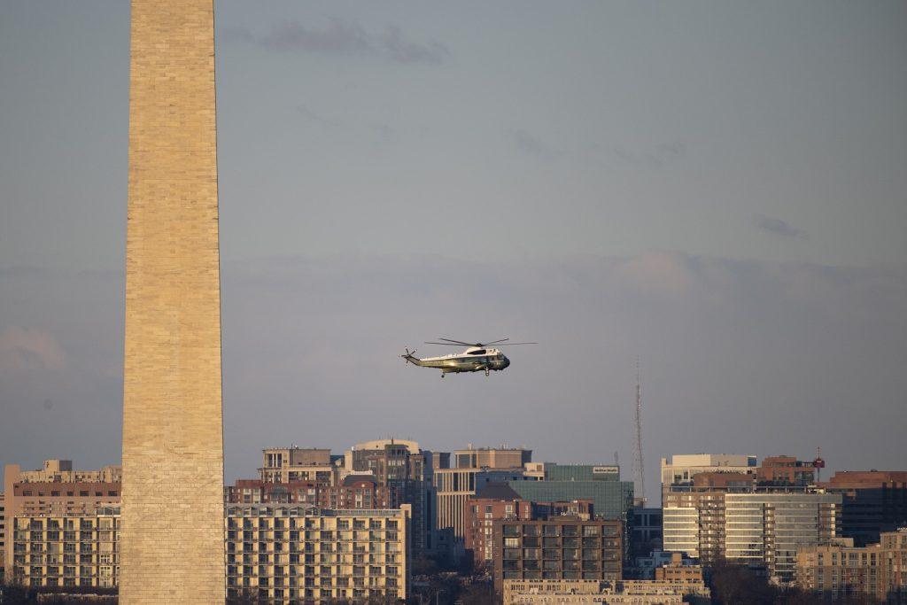 Helicóptero en el que Donald Trump salió de la Casa Blanca de Estados Unidos / Getty Images