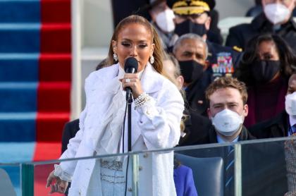Jennifer Lopez canta en posesión de Joe Bien con frase de impacto