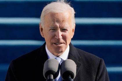 Joe Biden, durante su discurso de posesión, este 20 de enero de 2021.
