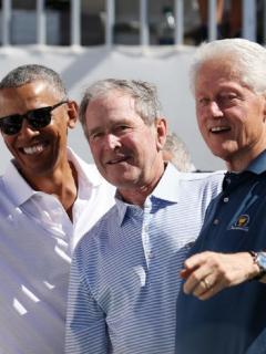 Todos los expresidentes vivos de Estados Unidos.