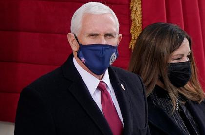 Mike Pence, a su llegada a la ceremonia de posesión de Joe Biden.