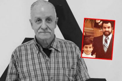 Imágenes de Tulio Zuloaga y de su hijo, a propósito de la muerte del presidente de Asopartes.