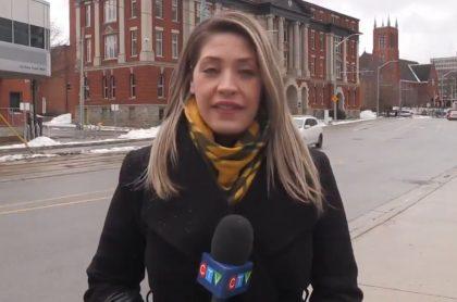 Krista Sharpe, reportera del canal CTV, fue víctima de acoso sexual en Canadá por parte de un conductor durante una transmisión en vivo.