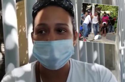 Brigitte Villalobos, esposa de hombre linchado en Barranquilla dice que él no era un ladrón
