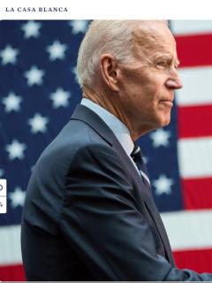 Imagen de la página web de la Casa Blanca, en su versión en español.
