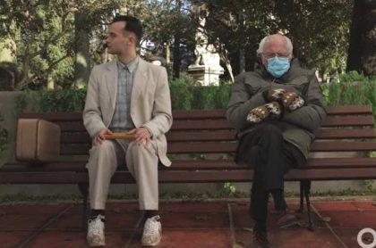 Escena de la película 'Forrest Gump', en la que le montaron la imagen de Bernie Sanders.
