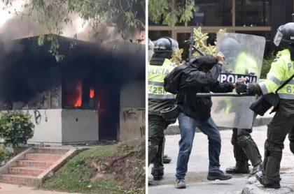 Imputan a un policía por muerte de dos personas en disturbios en Bogotá