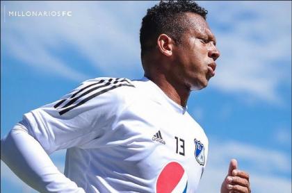 Fredy Guarín, jugador de Millonarios, se pone a punto para recuperar su estado físico.