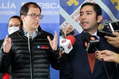 El fiscal general, Francisco Barbosa, y el exfiscal anticorrupción Luis Gustavo Moreno.