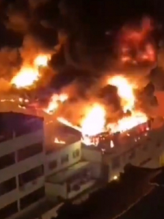 Incendio en Cali hoy, que se produjo en una bodega del centro de la ciudad