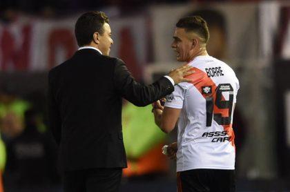 Foto de Gallardo y Borré ilustra nota sobre River Plate: ¿Rafael Borré se va del equipo de Gallardo?; Argentina