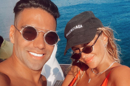 Lorelei Tarón defiende a Falcao y también le piden que salga de Turquía. Imagen de referfencia del futbolista y su esposa.