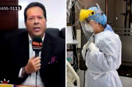 Cantante del gol, periodista de Win Sports que fue criticado por el Colegio Médico Colombiano luego de que pusiera en duda el profesionalismo de los doctores en la pandemia