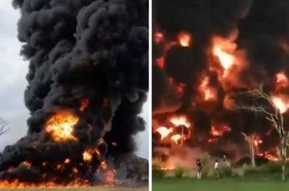 Videos: atentado en oleoducto Caño Limón-Coveñas en Saravena, Arauca