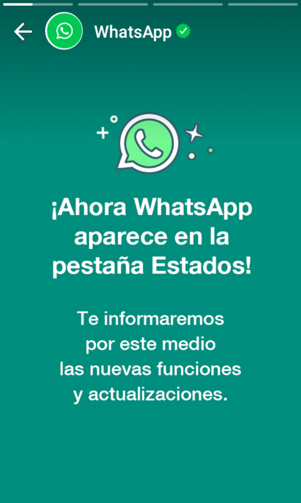 Captura de pantalla a WhatsApp