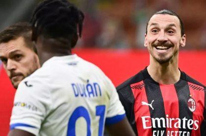 Zlatan Ibrahimovic tuvo un cruce de palabras con Duván Zapata en el final del encuentro entre Milan y Atalanta por Serie A.