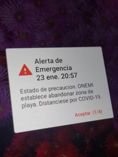 Captura de pantalla de falsa alarma de tsunami y evacuación desató caos y pánico en Chile