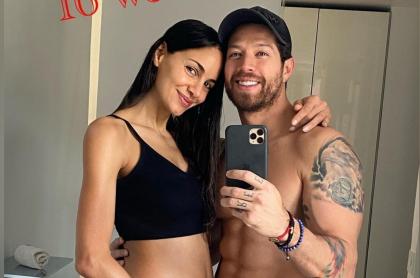 Foto de Valerie Domínguez y 'el Pollo' Echeverry, a propósito de que se casaron