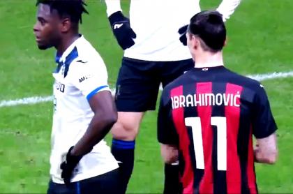 Duván Zapata habría provocado a Zlatan Ibrahimovic en Milan-Atalanta
