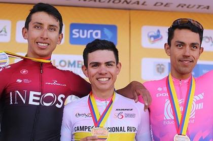 Cancelan los Campeonatos Nacionales de Ciclismo de 2021. Fotografía del podio de 2020.